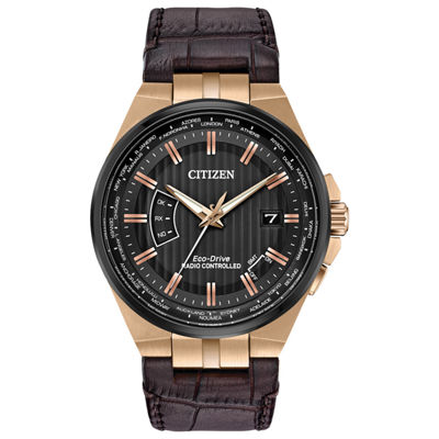 Citizen Mens Brown Strap Watch-Cb0168-08e