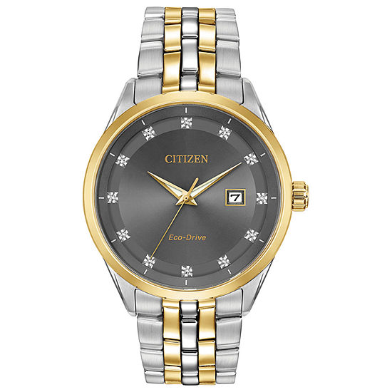 Citizen Corso Mens Two Tone Stainless Steel Bracelet Watch-Bm7258-54h