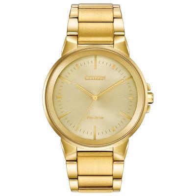Citizen Mens Gold Tone Bracelet Watch-Bj6512-56p