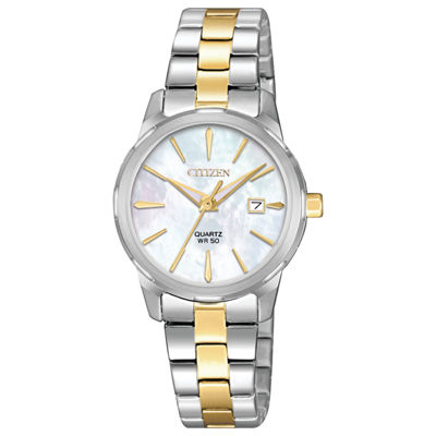 Citizen Quartz Womens Two Tone Bracelet Watch-Eu6074-51d