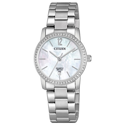 Citizen Quartz Womens Silver Tone Bracelet Watch-Eu6030-81d