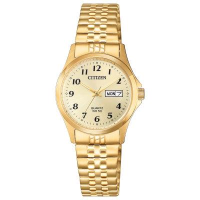 Citizen Quartz Womens Gold Tone Expansion Watch-Eq2002-91p