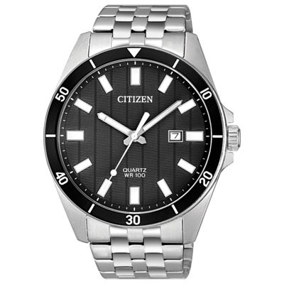Citizen Quartz Mens Silver Tone Bracelet Watch-Bi5050-54e