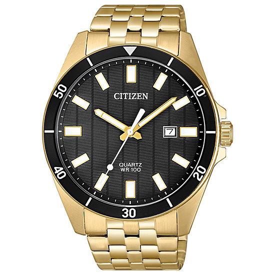 Citizen Quartz Mens Gold Tone Stainless Steel Bracelet Watch-Bi5052-59e
