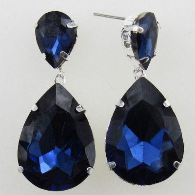 Vieste Rosa Blue Brass Drop Earrings