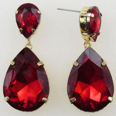 Vieste Rosa Red Brass Drop Earrings
