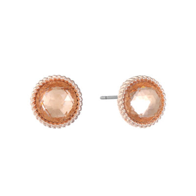 Monet Jewelry Pink 13mm Stud Earrings
