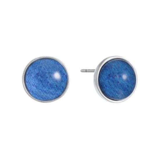 Liz Claiborne Blue 15.5mm Round Stud Earrings