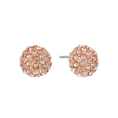 Monet Jewelry Orange 10mm Stud Earrings