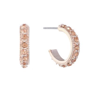 Monet Jewelry Orange 15.2mm Hoop Earrings
