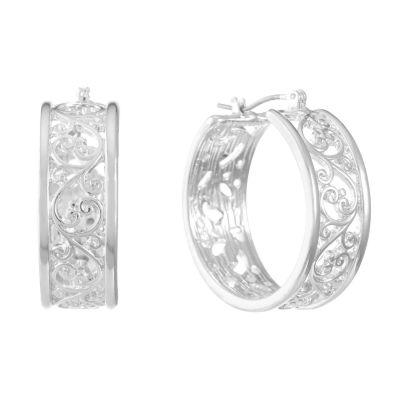 Liz Claiborne 24mm Hoop Earrings
