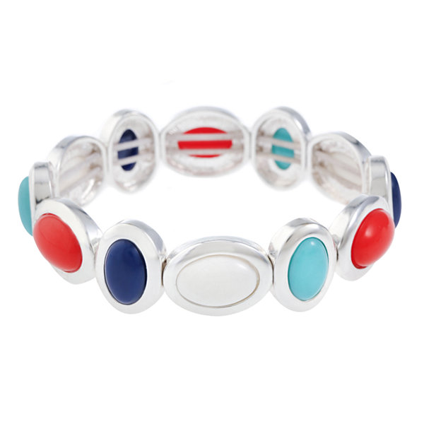 Liz Claiborne Womens Multi Color Stretch Bracelet