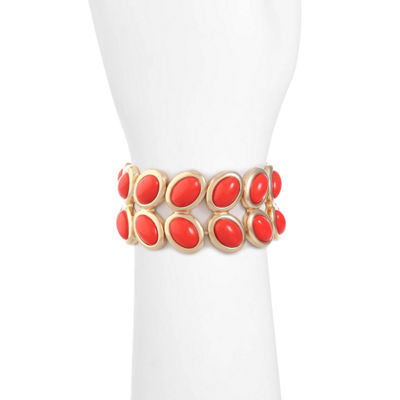 Liz Claiborne Womens Orange Stretch Bracelet