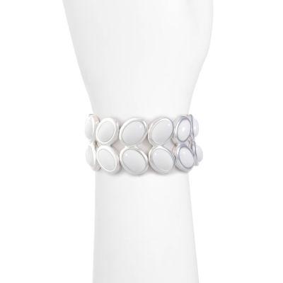 Liz Claiborne Womens White Stretch Bracelet