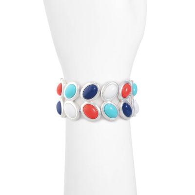 Liz Claiborne Womens Multi Color Stretch Bracelet