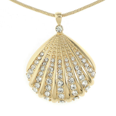Monet Jewelry Womens Clear Pendant Necklace