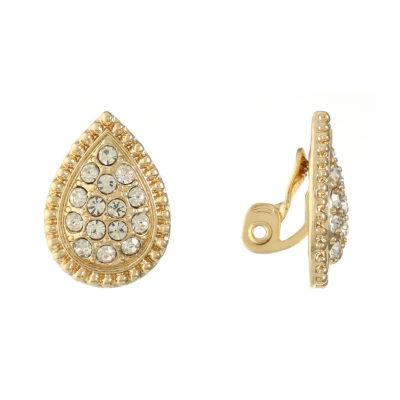 Monet Jewelry Clear Clip On Earrings
