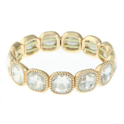 Monet Jewelry Womens Clear Stretch Bracelet