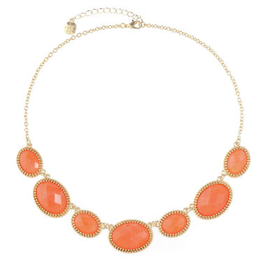 Monet Jewelry Monet Jewelry Womens Orange Collar Necklace
