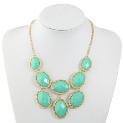 Monet Jewelry Green Statement Necklace