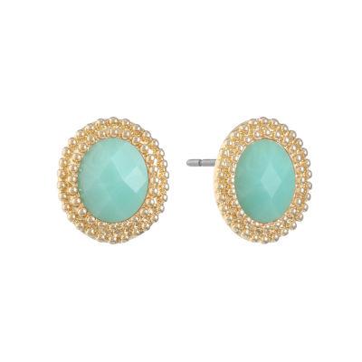 Monet Jewelry Green 22mm Stud Earrings