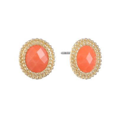 Monet Jewelry Orange 22mm Stud Earrings
