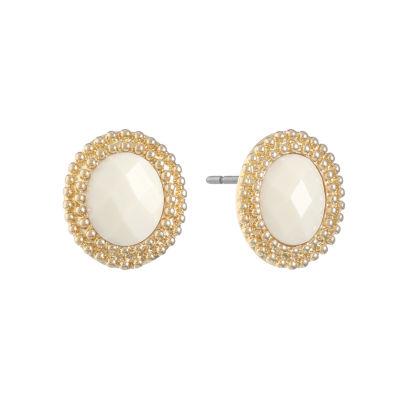 Monet Jewelry White 22mm Stud Earrings
