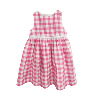 Happy Fella Gingham Sleeveless A-Line Dress - Baby Girls