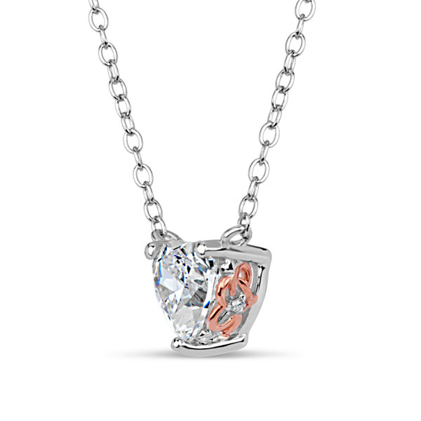 Swarovski Womens 1 5/8 CT. T.W. White Zirconia 18K Sterling Silver Gold Over Silver Pendant Necklace
