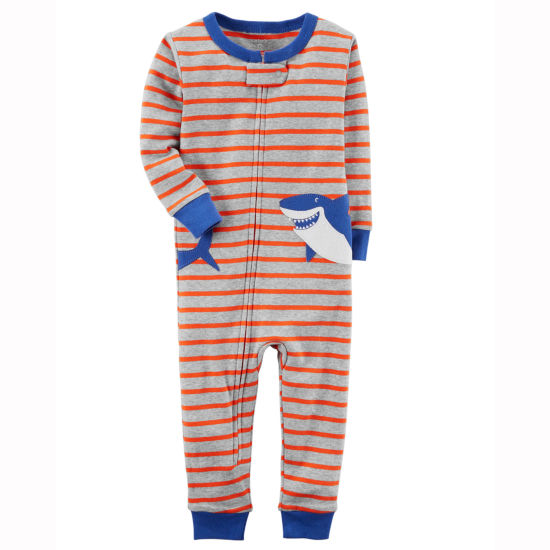 Carter's Full Zip Long Sleeve One Piece Pajama-Toddler Boys 2T-5T