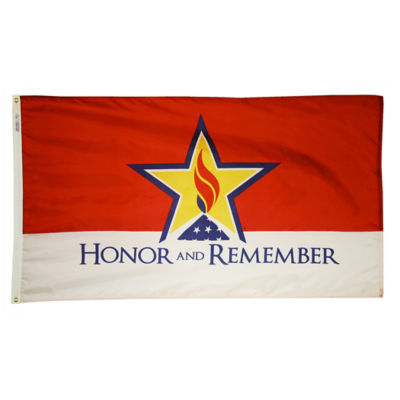 Honor and Remember Flag  3x5 ft. Nylon by Annin Flagmakers  Model 1957