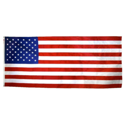 American Flag 5x9.5 ft. Nylon SolarGuard Nyl-Glo by Annin Flagmakers  100% Made in USA with Sewn Stripes  Embroidered Stars and Brass Grommets. Model 2280