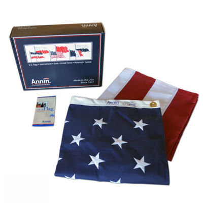 American Flag 3x5 ft. Tough-Tex the Strongest  Longest Lasting Flag by Annin Flagmakers  100% Made in USA with Sewn Stripes  Embroidered Stars and Brass Grommets.  Model 2710