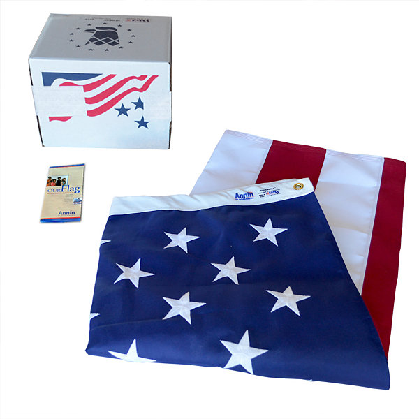 American Flag 6x10 ft. Tough-Tex the Strongest  Longest Lasting Flag by Annin Flagmakers  100% Madein USA with Sewn Stripes  Embroidered Stars and Brass Grommets.  Model 2740