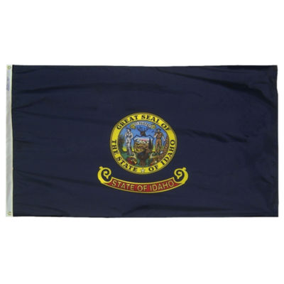 Idaho State Flag 5x8 ft. Nylon SolarGuard Nyl-Glo100% Made in USA to Official State Design Specifications by Annin Flagmakers.  Model 141380