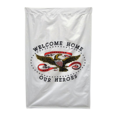 Welcome Home Our Heroes Banner  28x40 in. Nylon byAnnin Flagmakers  model 439202