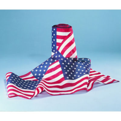 Annin Flagmakers Bunting with Repeating Large U.S Flag 1 by 25-Feet