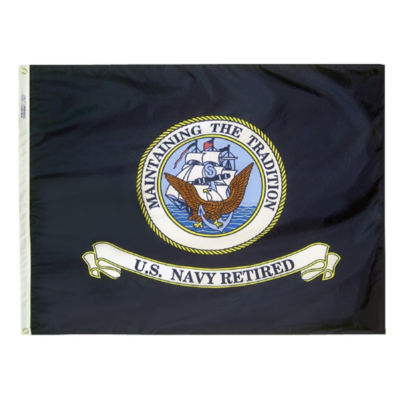 Annin Armed Forces Flag  US Navy Retired 3 by 4 Foot