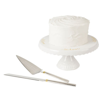 Cathys Concepts Personalized Cake Stand And Server Set