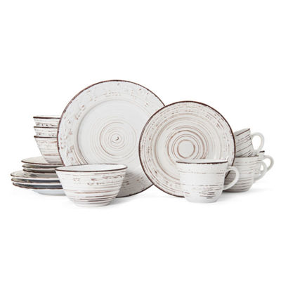 Pfaltzgraff Trellis White 16pc Remailer 16-pc. Dinnerware Set