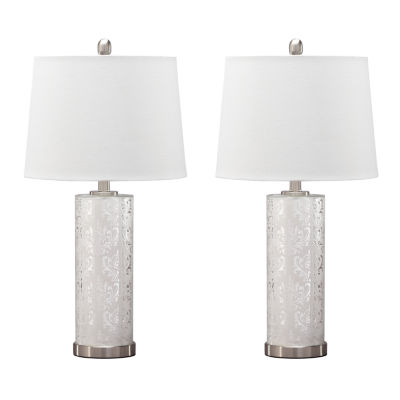 Signature Design by Ashley® Set of 2 Nichole Glass Table Lamps