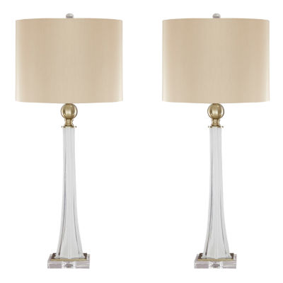 Signature Design by Ashley® Set of 2 Laureen Glass Table Lamps