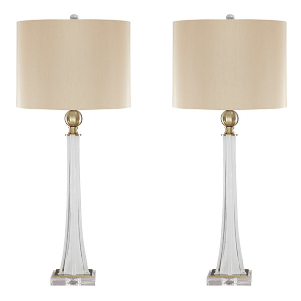 Signature design by ashley set of 2 laureen glass table lamps signature design by ashley set of 2 laureen glass table lamps aloadofball Gallery