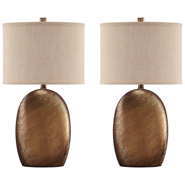 Signature Design by Ashley® Set of 2 Lewelyn Ceramic Table Lamps
