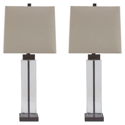 Signature Design by Ashley® Set of 2 Alvaro GlassTable Lamps