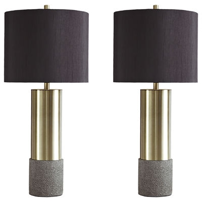 Signature Design by Ashley® Set of 2 Jacek Metal Table Lamps