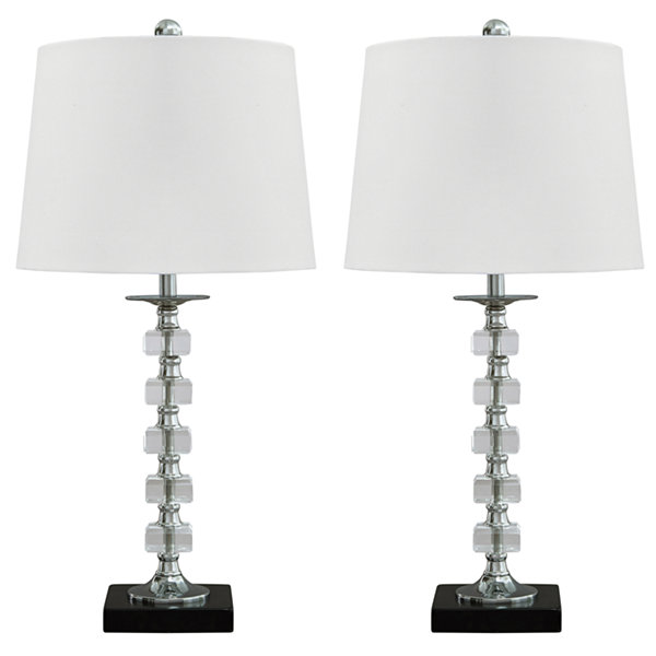 Signature Design by Ashley® Set of 2 Leesa Crystal Table Lamps