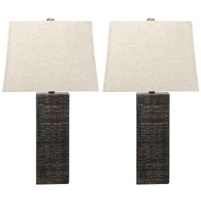 Signature Design by Ashley® Set of 2 Mahak Wood Table Lamps