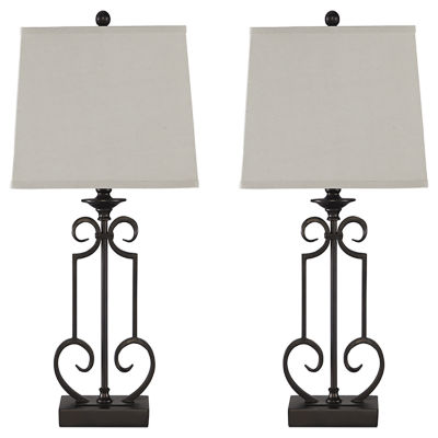 Signature Design by Ashley® Set of 2 Ainslie Metal Table Lamps