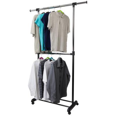 Home Basics 2-Tier Expandable Garment Rack